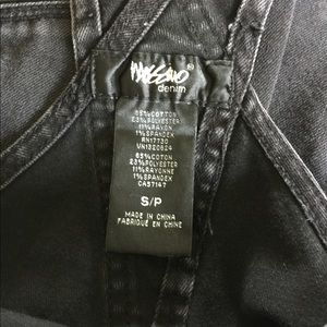 Mossimo Supply Co. Jeans - Mossimo Black Distressed Denim Overalls